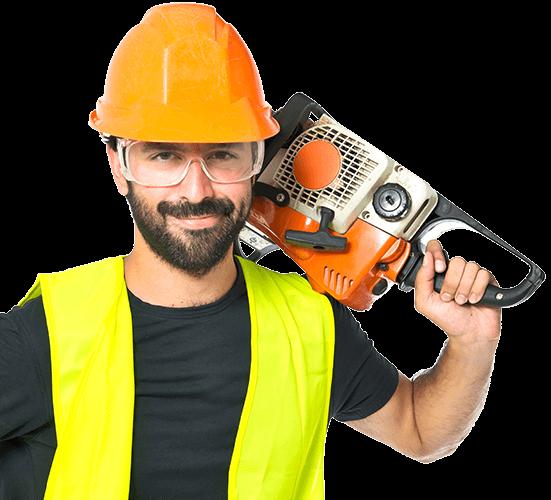 Constructor con Motosierra